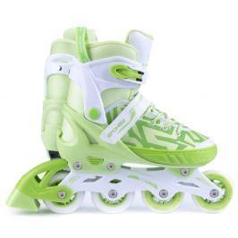 Spokey Turisti Kolieskové korčule bielo zelená ABEC5 carbon veľ. 33-36