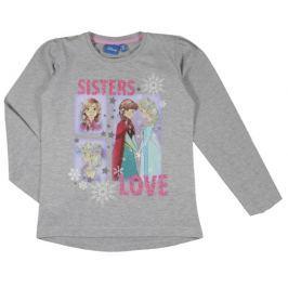 E plus M Dievčenské tričko Frozen - sivé