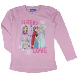 E plus M Dievčenské tričko Frozen - ružové