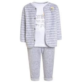 Blue Seven Detský trojkomplet s počasím - bielo-šedý
