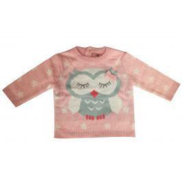 Carodel Dievčenský sveter sa malá sova - ružový