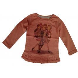 Carodel Dievčenské tričko s dievčatami - ružové