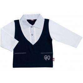 2be3 Chlapčenské tričko Mr.Boy - bielo-modré