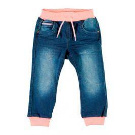 Name it Dievčenské nohavice denim - modro-ružové