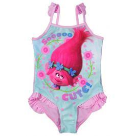 E plus M Dievčenské plavky Trollovia - ružovo-modré