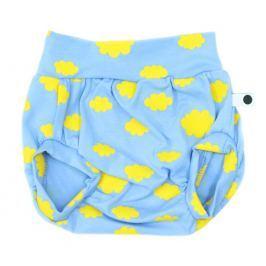 Lamama Chlapčenské nohavičky na plienku Nube - modro-žlté