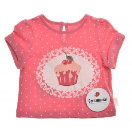 Garnamama Dievčenské tričko s tortičky - ružové ce9bcf6cbf9