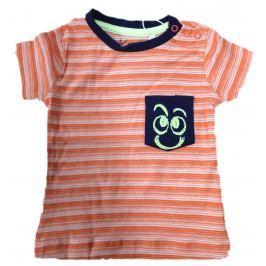 Carodel Chlapčenské prúžkované tričko - oranžové