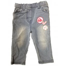 Carodel Dievčenské nohavice s potlačou - šedé