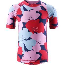 Reima Dievčenské plavecké tričko Fiji s UV ochranou 50+ - červená