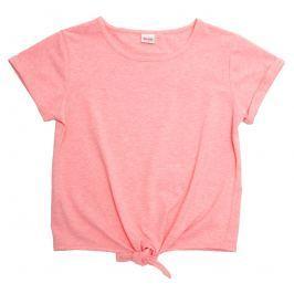 Topo Dievčenské top s viazačkou - svetlo ružový