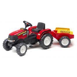 Falk Traktor šliapací Farm Max červený + príves