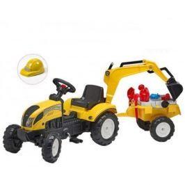 Falk Traktor žltý Ranch Trac s prívesom a zadnou lyžicou