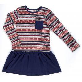Topo Dievčenské prúžkované šaty - farebné