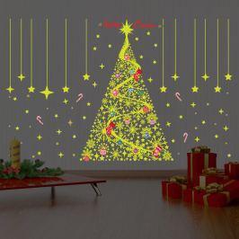 Walplus Svietiaca samolepka na stenu - vianočný stromček