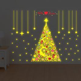 Walplus Svieti samolepka na stenu - vianočný stromček