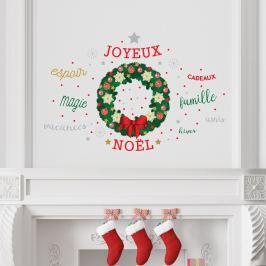 Walplus Samolepka na stenu - vianočný veniec