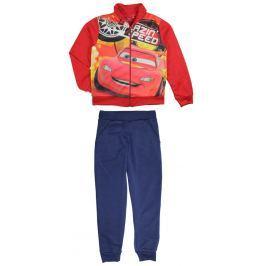 E plus M Chlapčenská tepláková súprava Cars - červeno-modrá
