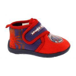 Disney by Arnetta Chlapčenské papučky Spiderman - červené