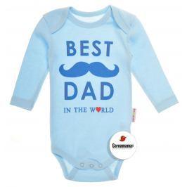 Garnamama Chlapčenské body Best dad - modré