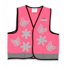 LittleLife Reflexná vesta ružová - Small