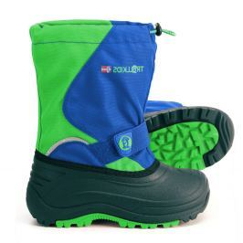 Trollkids Chlapčenské snehule Telemark - modro-zelené