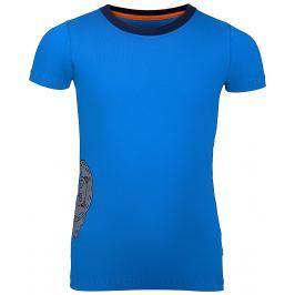 ALPINE PRO Chlapčenské tričko Silvano 5 - modré