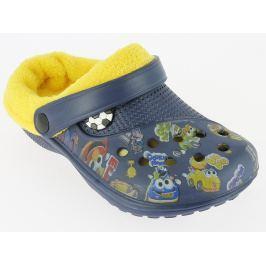 V+J Chlapčenské zateplené sandále - modré
