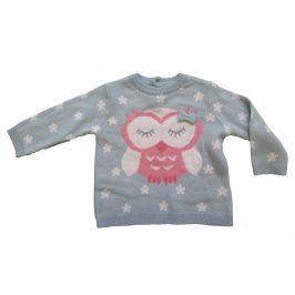 Carodel Dievčenský sveter so sovičkou - sivý