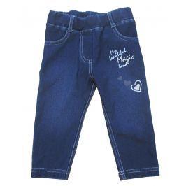 Carodel Dievčenské nohavice so srdiečkom - modré