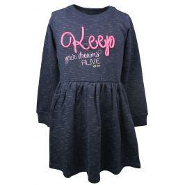 Dirkje Dievčenské šaty Keep - tmavo modré