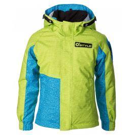 O'Style Detská rastúca bunda Ice - zeleno-modrá