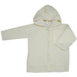EKO Dievčenský sveter s kapucňou - béžový