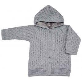 EKO Dievčenský sveter s kapucňou - sivý