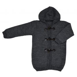 EKO Detský sveter s kapucňou - tmavo šedý