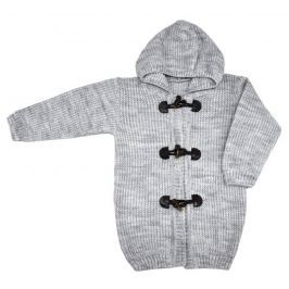 EKO Detský sveter s kapucňou - svetlo šedý