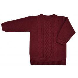EKO Dievčenský sveter - tmavo červený