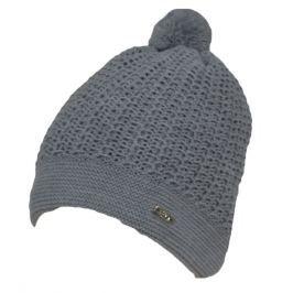 EKO Dievčenská čiapka s brmbolcom - šedá