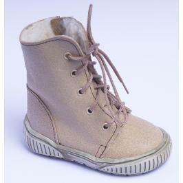 První krůčky Detské zimné topánky so zipsom - béžové