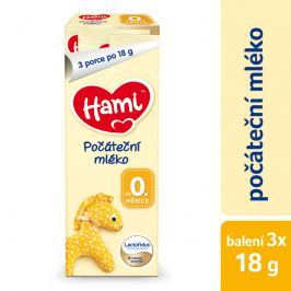 Hami Počiatočné dojčenské mlieko 0+, 3x18g