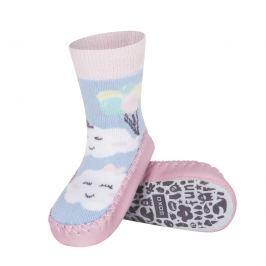 SOXO® Dievčenské ponožky s podrážkou Mráčiky - farebné