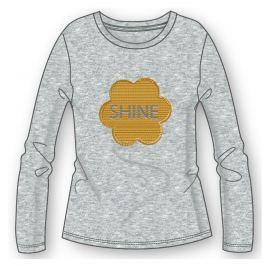Mix 'n Match Dievčenské tričko s obrázkom - šedé