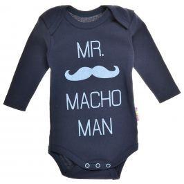 Garnamama Chlapčenské body Macho Man - tmavo modré
