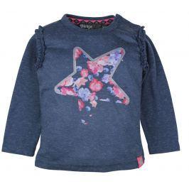 Dirkje Dievčenské tričko s hviezdou - modré
