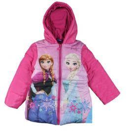 E plus M Dievčenská bunda Frozen - ružová