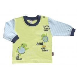 2be3 Chlapčenské tričko Korytnačka - žlto-modré