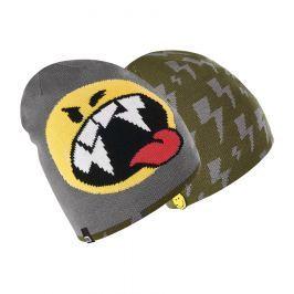 Brekka Chlapčenská obojstranná čiapka Camo Smiley - šedá