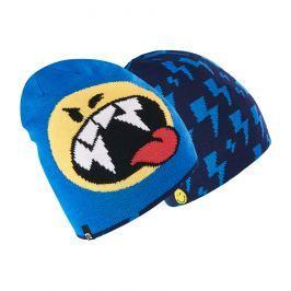 Brekka Chlapčenská obojstranná čiapka Camo Smiley - modrá