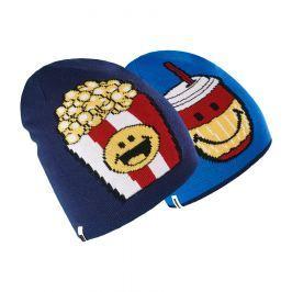 Brekka Chlapčenská obojstranná čiapka Food Smiley - modrá