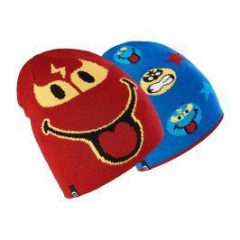 Brekka Chlapčenská obojstranná čiapka Smiley - farebná